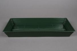 Green plastic saucer 40x18cm H5cm