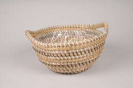 A029UV Weaved basket planter D31cm H15cm