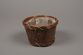 A029VX Planter wood bark H10cm