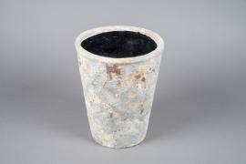 A029W6 Cache-pot en terre cuite vieilli D23cm H29cm