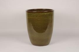 A029YD Pot en céramique émaillé vert D38cm H49cm