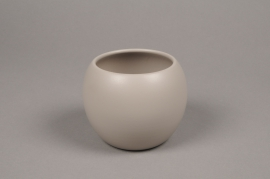 A030A8 Brown bowl ceramic planter D31cm H25cm