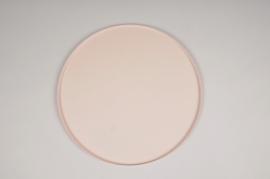A030CC Pink metal tray D29.5cm