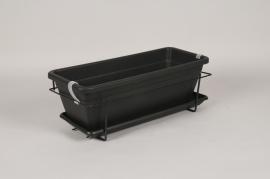 A030DB Kit jardinière en plastique anthracite 50x28.5cm H18cm