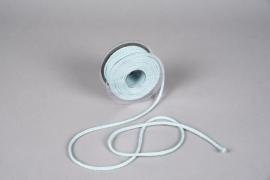A030QL Ruban corde bleu ciel 6mm x 20m
