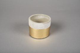 A030U0 Cache-pot en terre cuite gris or D7.5cm H6m