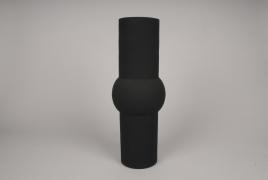 A030U9 Vase cylindre en métal noir D11cm H45cm