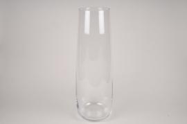 A030W3 Vase en verre obus D23cm H65cm