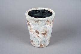 A030W6 Cache-pot en terre cuite vieilli D19cm H23.5cm