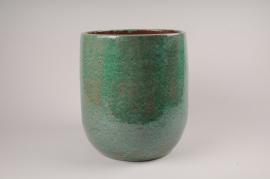 A030XD Cache-pot en céramique vert D25cm H31cm