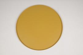 A031CC Plateau en métal moutarde D29.5cm