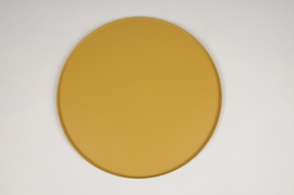 A031CC Yellow metal tray D29.5cm
