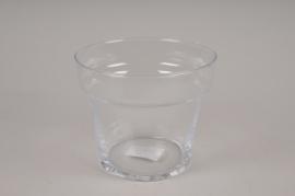A031H9 Glass plant pot D15cm H12.5cm