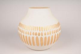 A031I4 Vase en céramique blanc D36cm H38cm