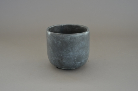 A031TN Terra cotta planter grey D12cm H11cm