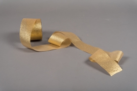 A031UN Gold satin ribbon 63mm x 20m