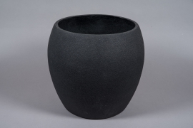 A031W7 Black resin planter D45cm H42cm