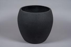 A031W7 Pot en fibre noir D45cm H42cm