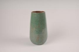 A031XD Vase en céramique vert D14cm H26cm