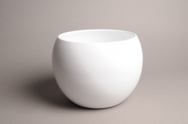 A032A8 White bowl ceramic planter D25cm H19cm