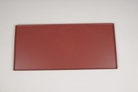 A032CC Plateau en métal framboise 40x18cm