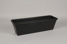 A032DB Jardinière en plastique anthracite 58.5x19cm H17cm