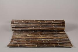 A032DN Palissade en bambou plein noir 100 x 300cm