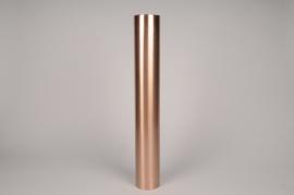 A032E0 Bougeoir cylindre métal cuivre D7.5cm H54.5cm