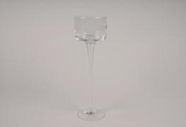 A032H9 Standing glass planter D9cm H30cm