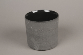 A032N8 Grey terracotta planter D13cm H13cm