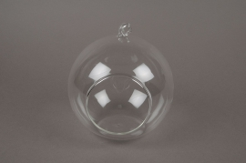 A032PM Box of 4 open hanging glass balls diameter 14cm
