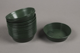 A032T7 Green plastic saucer D10cm