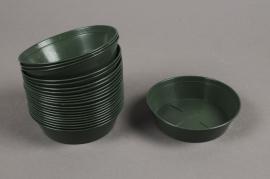 A032T7 Soucoupe en plastique verte D10cm