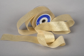 A032UN Gold satin ribbon 40mm x 20m