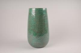 A032XD Vase en céramique vert D19cm H35cm