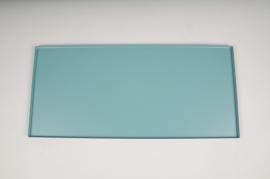 A033CC Plateau en métal bleu 40x18cm
