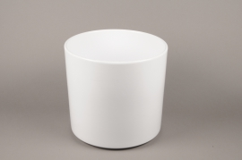 A033DO Planter ceramic white D32cm H31cm