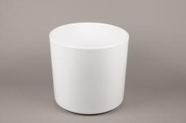 A033DO Planter ceramic white D32cm H31cm