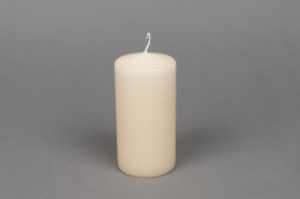 A033E2 Box of 16 candles ivory cylinder D6cm H12cm