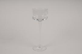 A033H9 Standing glass planter D9cm H25cm