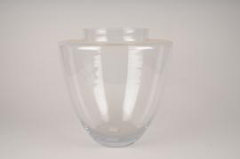 A033IH Glass vase D35cm H35cm
