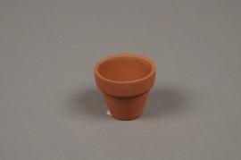 A033KF Pot horticole en terre cuite D5cm H4cm