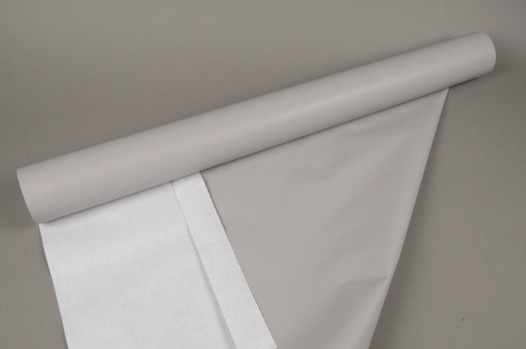 A033QX Rouleau de papier kraft gris 80cmx120m