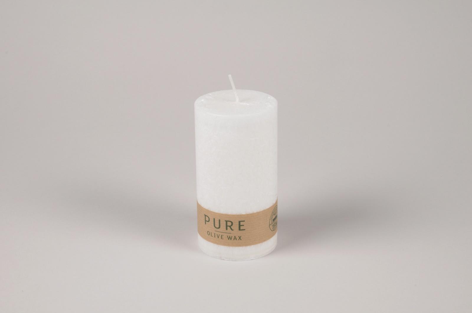 A033RP Boîte de 12 bougies blanches naturelles D7cm H13cm