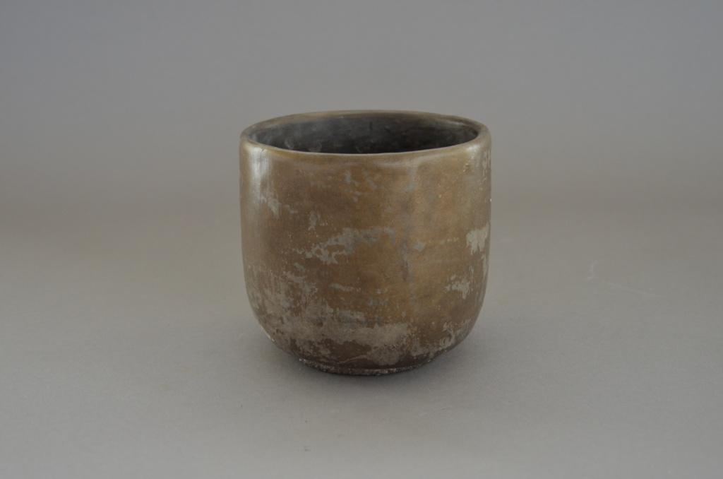 A033TN Cache-pot en terre cuite taupe D15cm H13cm