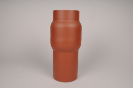 A033U9 Brown metal vase D13cm H34.5cm