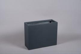 A033VV Black fiberglass planter 20cm x 51cm H40.5cm