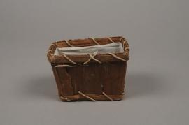 A033VX Bark pot 14x9cm H10cm