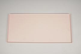A034CC Pink metal tray 40x18cm