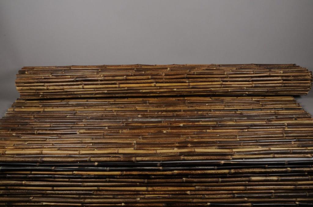 A034DN Bamboo fence black 200 x 300cm